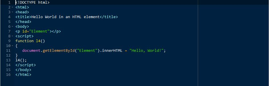 Lesson 0004 - Hello World in an HTML element